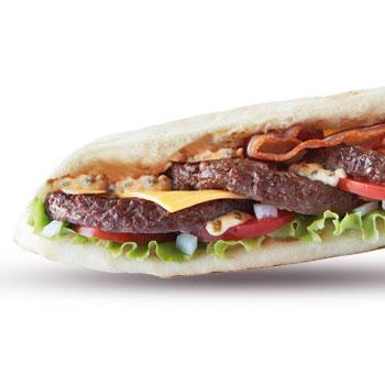 sandwich steak jambon oeuf